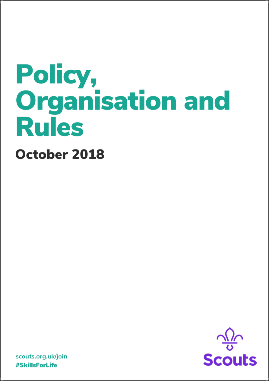 Policy, Organisation & Rules of The Scout Association