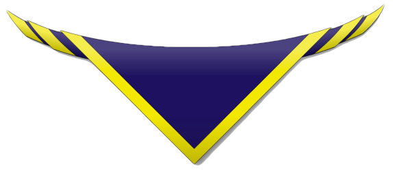 Group Necker - blue with yellow edging