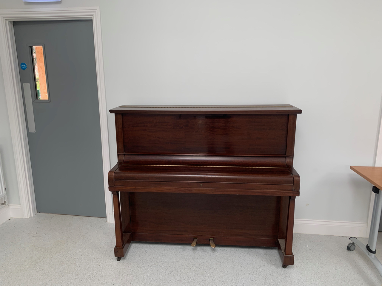 An upright piano