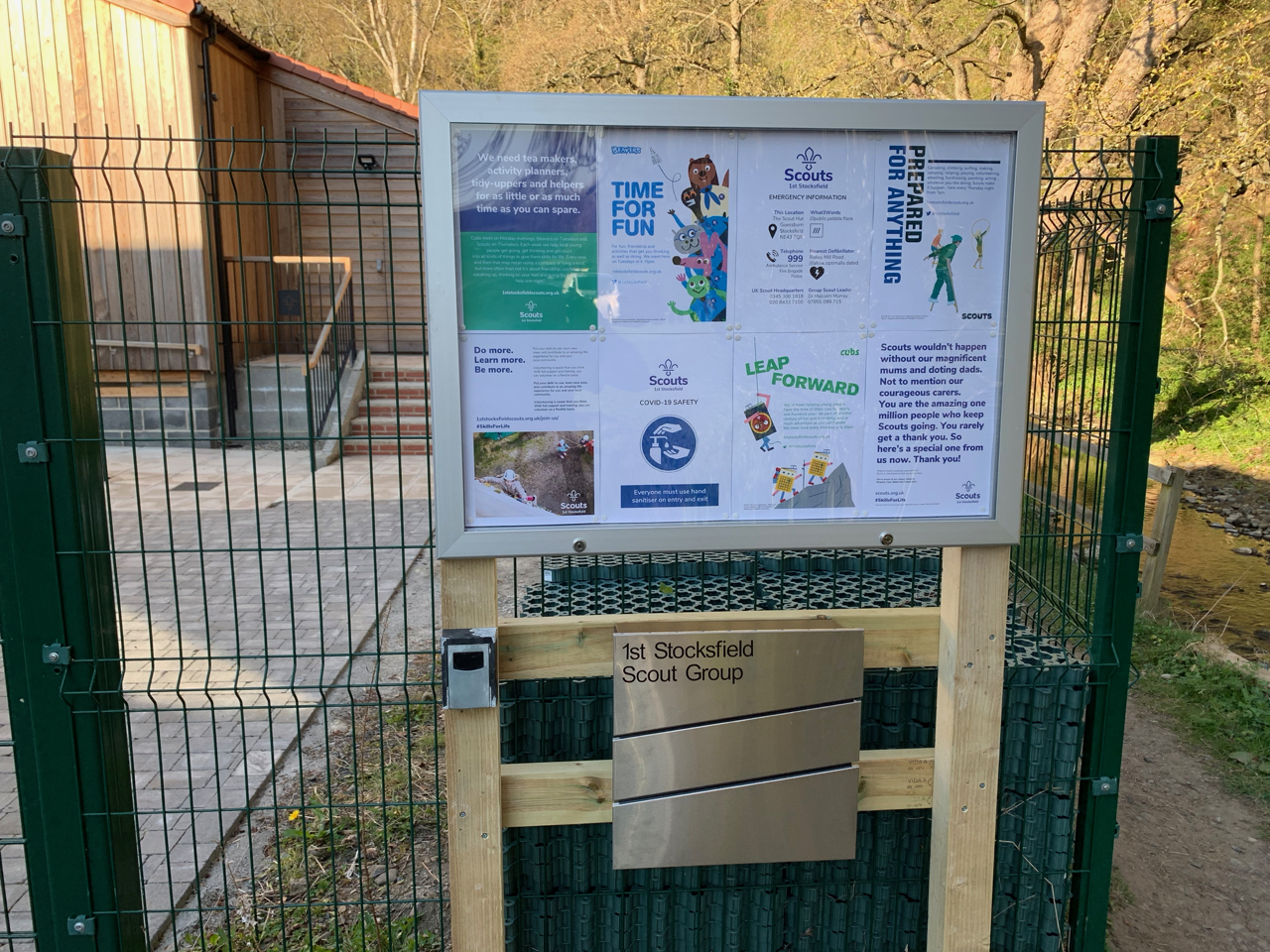 A new noticeboard