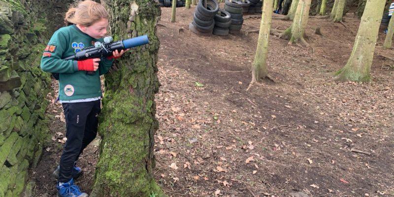 Laser quest in the woods